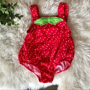 4/$20 Carter's one piece strawberry swimsuit